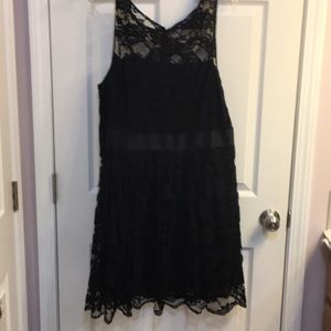 Super rocker black lace dress size 18